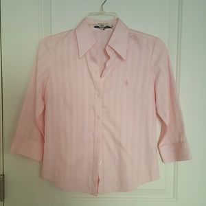 Polo S pink button down slim fit shirt